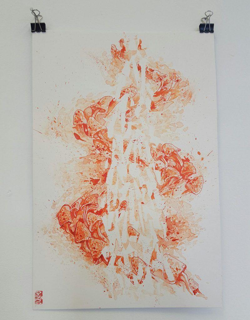 Mupz – 'Double dragon pt.1' – watercolour, ink on illustration board – 25.5cm x 38cm - $150 (set of 2 $280)