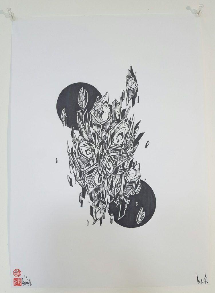 Knock – 'Unconformity' – ink on paper – 29.7cm x 42cm - $150