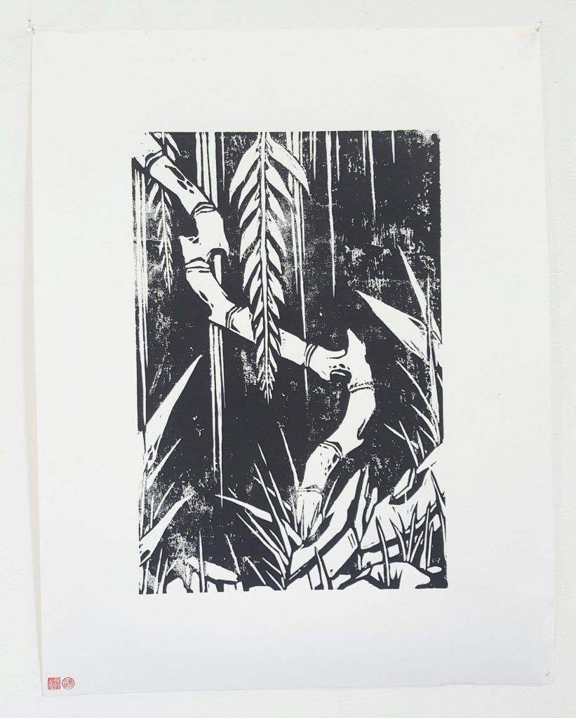Knock – 'Nocturnal forest' – woodblock print – 42cm x 60cm - $450 (limited edition of 4)