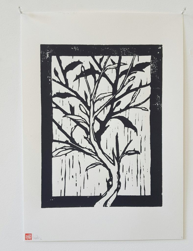 Knock – 'Blossom v' – woodblock print – 29.7cm x 42cm - $150 (limited edition of 5)