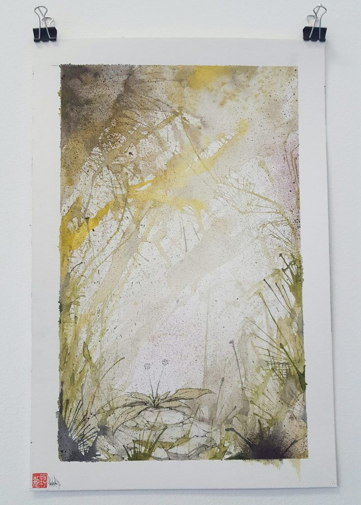 Knock – 'Horizontal foliage' - watercolour, ink on paper – 28.5cm x 38cm - $150 (set of 2 $280)